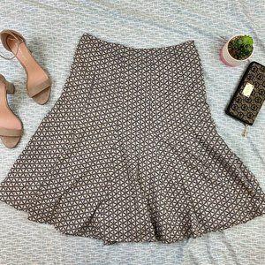 Gap Geometric Print Flare Skirt